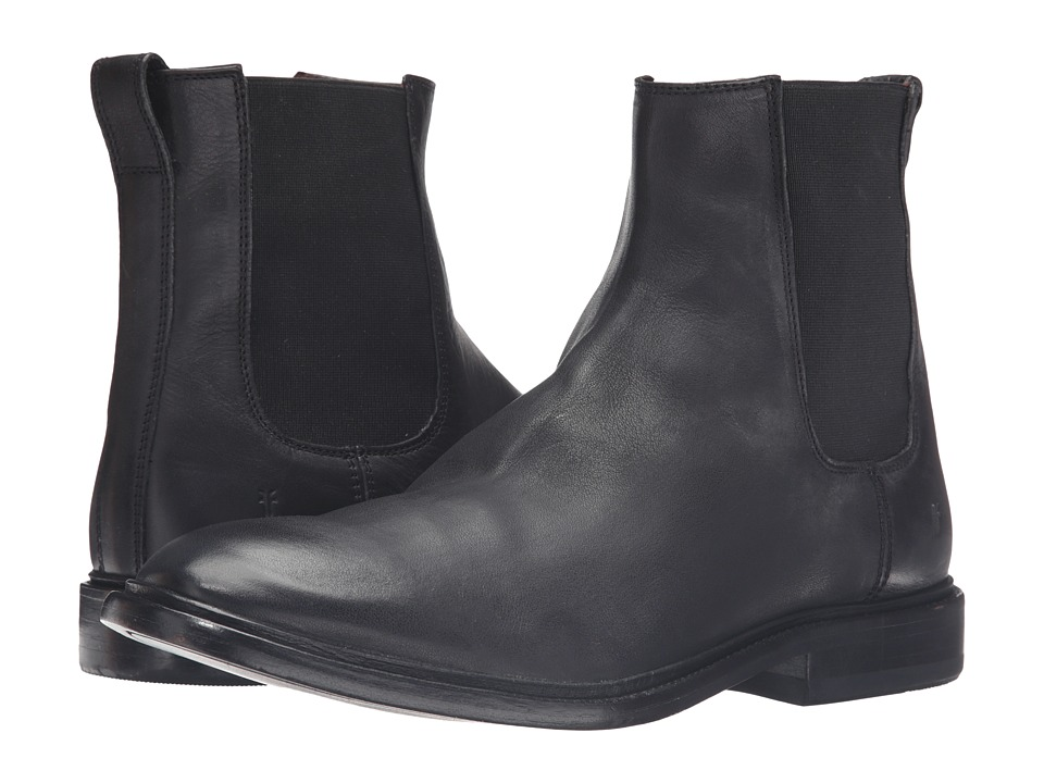 Frye Chris Chelsea (Black Tumbled Full Grain) Men