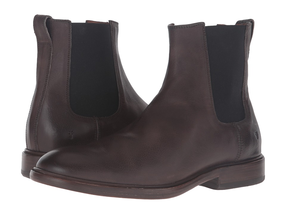 Frye - Chris Chelsea (Charcoal Tumbled Full Grain) Men