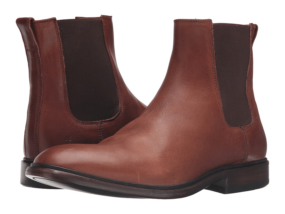 Frye - Chris Chelsea (Copper Tumbled Full Grain) Men