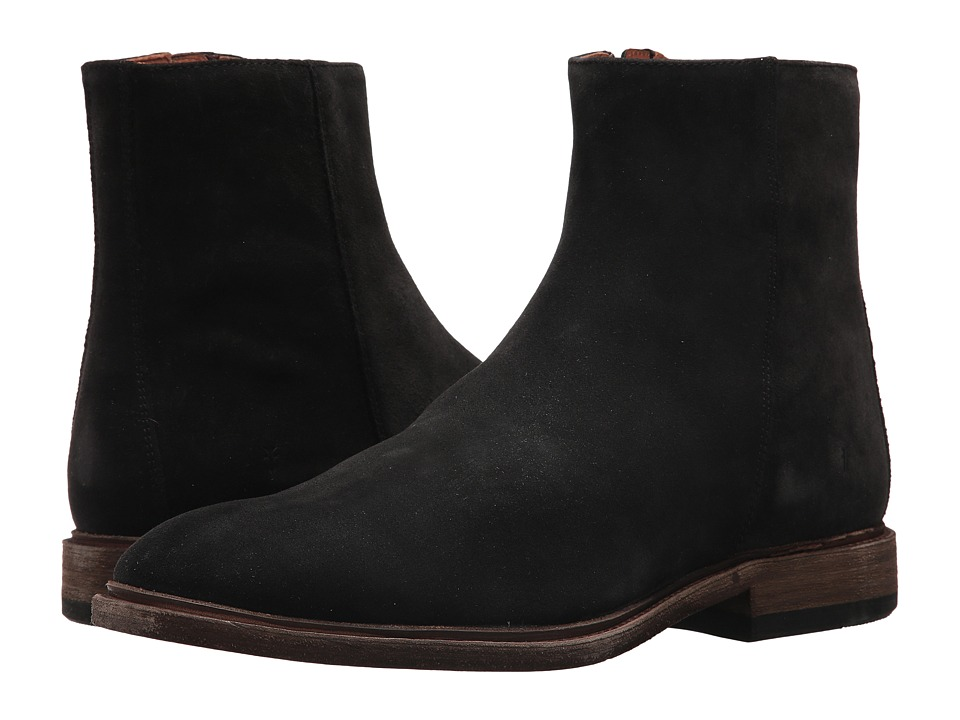 Frye Chris Inside Zip (Black Oiled Suede) Men