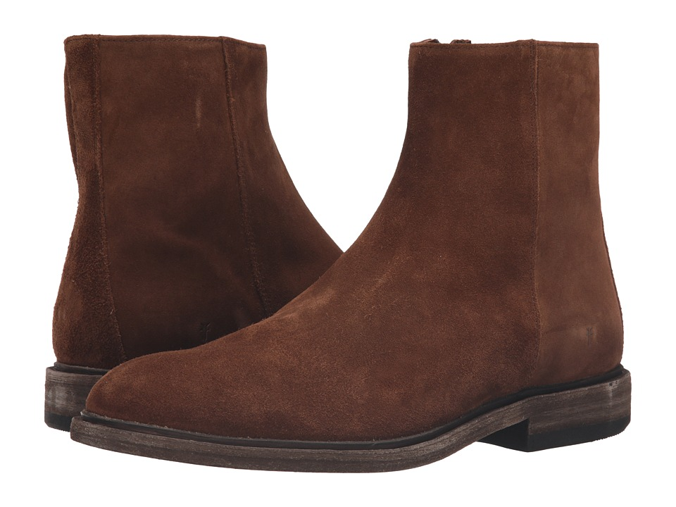 Frye Chris Inside Zip (Brown Oiled Suede) Men