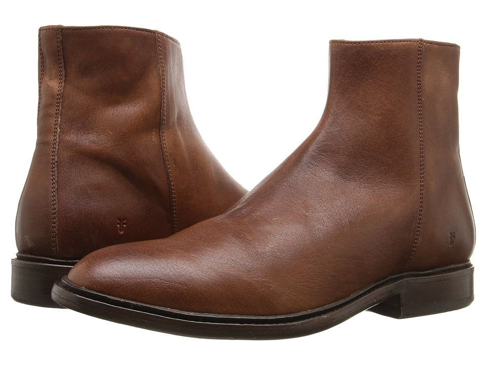 Frye - Chris Inside Zip (Copper Tumbled Full Grain) Men