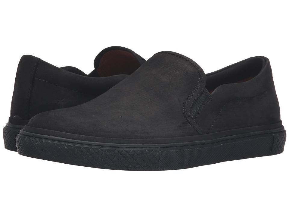 Frye - Gates Slip-On (Black Soft Nubuck) Men