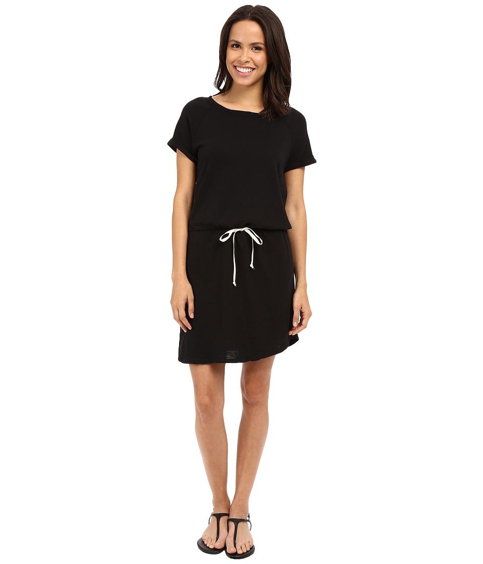 Allen Allen Raglan Roll Sleeve Dress Black Womens Dress