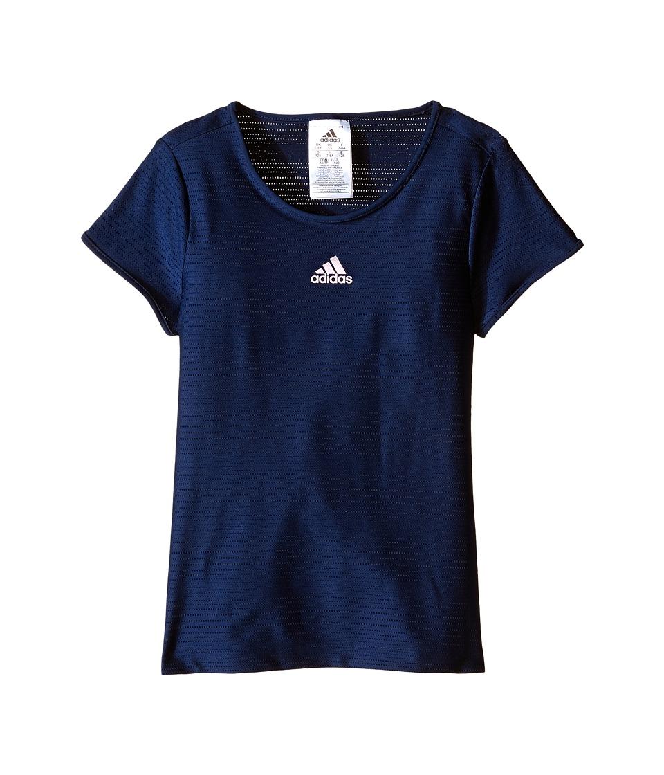 adidas Kids Primefit Tee (Little Kids/Big Kids) (Collegiate Navy) Girl