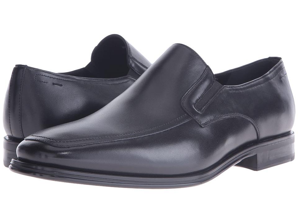 Magnanni Antonio Lineo Merino Black Mens Slip on Dress Shoes