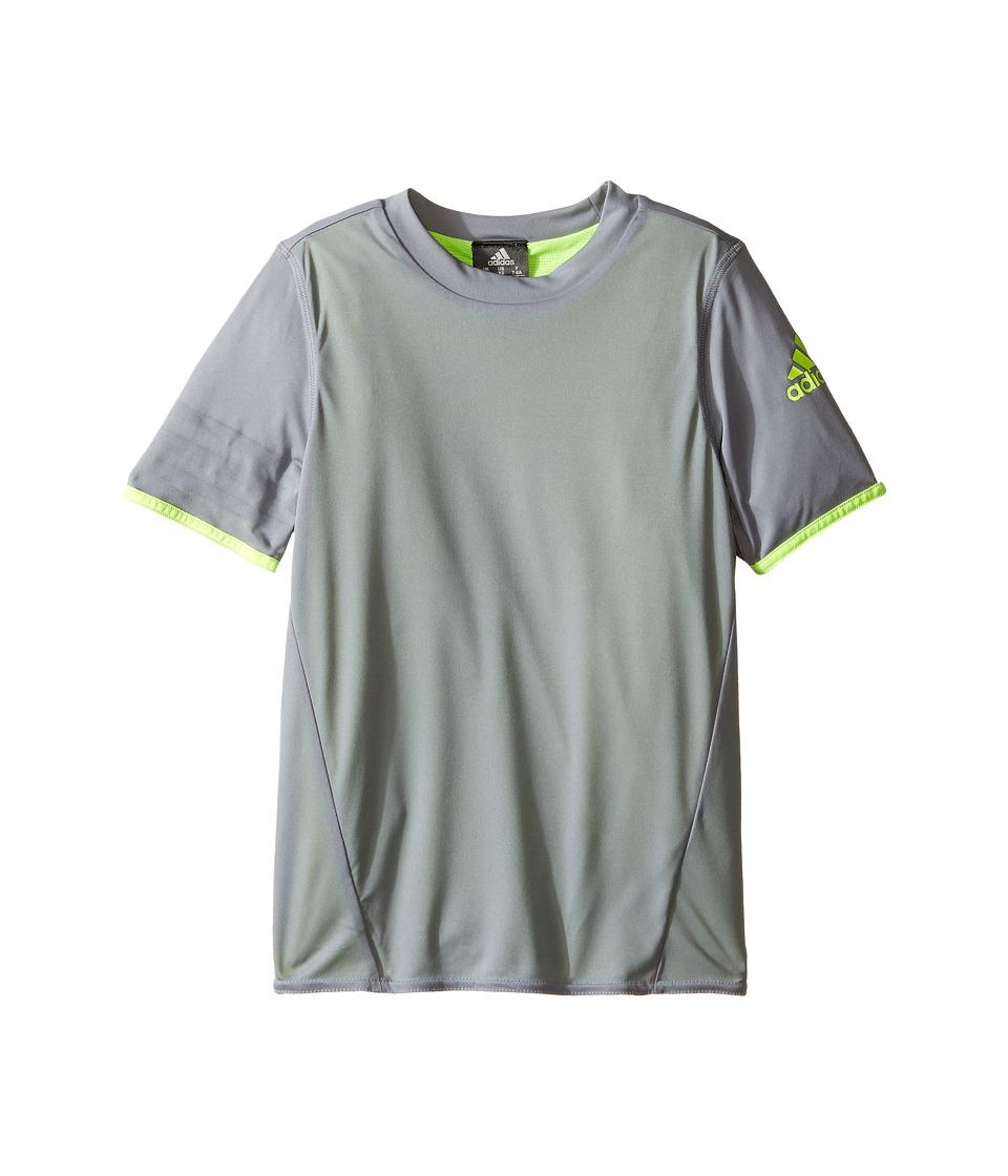 adidas Kids UFB Reversible Jersey (Little Kids/Big Kids) (Grey/Solar Yellow) Kid