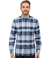 Lacoste - Long Sleeve Indigo Poplin Check