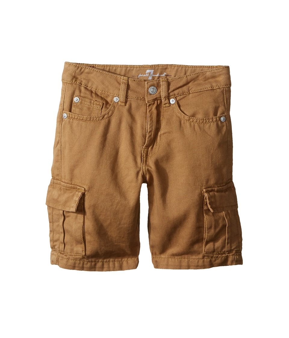 7 For All Mankind Kids Seven Pocket Twill Cargo Shorts Little Kids/Big Kids Khaki Boys Shorts
