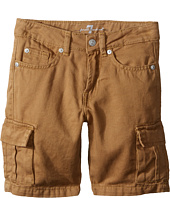 7 For All Mankind Kids - Seven-Pocket Twill Cargo Shorts (Little Kids/Big Kids)
