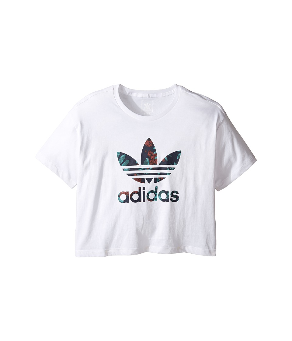 adidas Originals Kids Everyday Iconics Supergirl Tee (Little Kids/Big Kids) (White/Multicolor) Girl