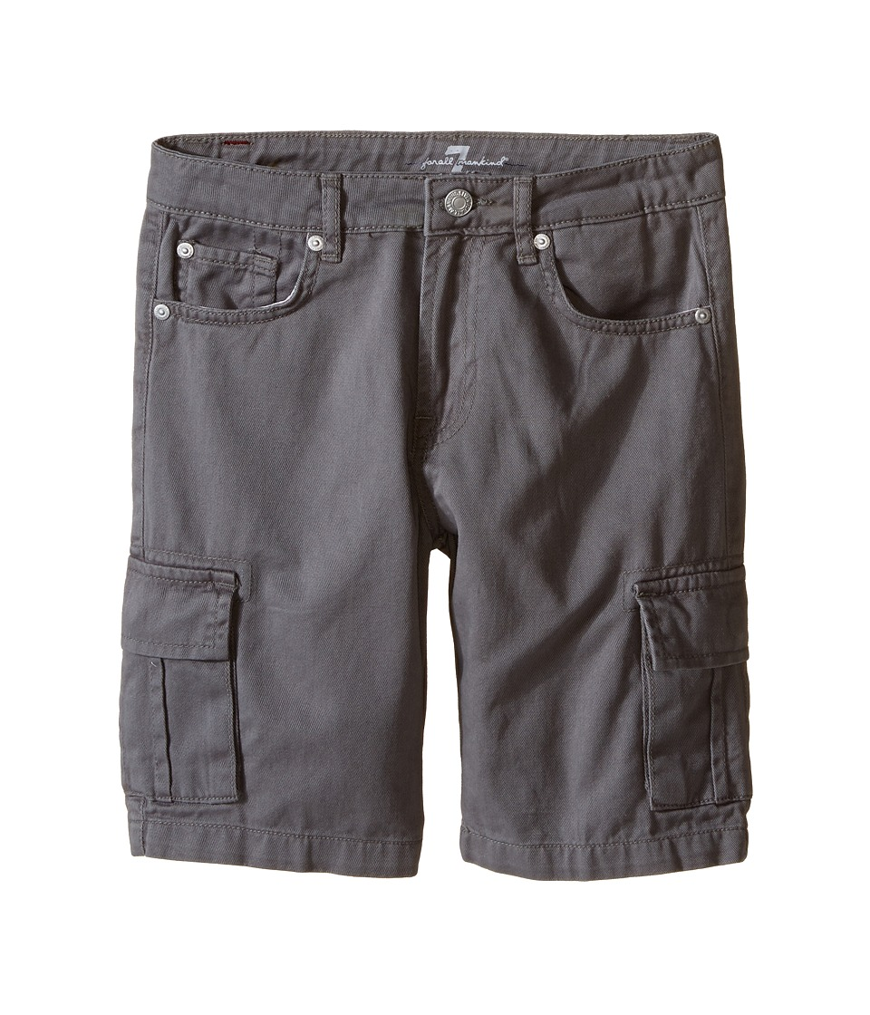 7 For All Mankind Kids Seven Pocket Twill Cargo Shorts Big Kids Grey Boys Shorts