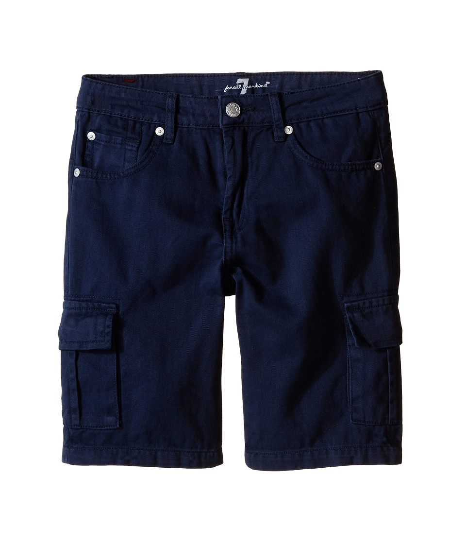 7 For All Mankind Kids Seven Pocket Twill Cargo Shorts Big Kids Navy Boys Shorts