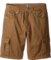 7 For All Mankind Kids - Seven-Pocket Twill Cargo Shorts (Big Kids)