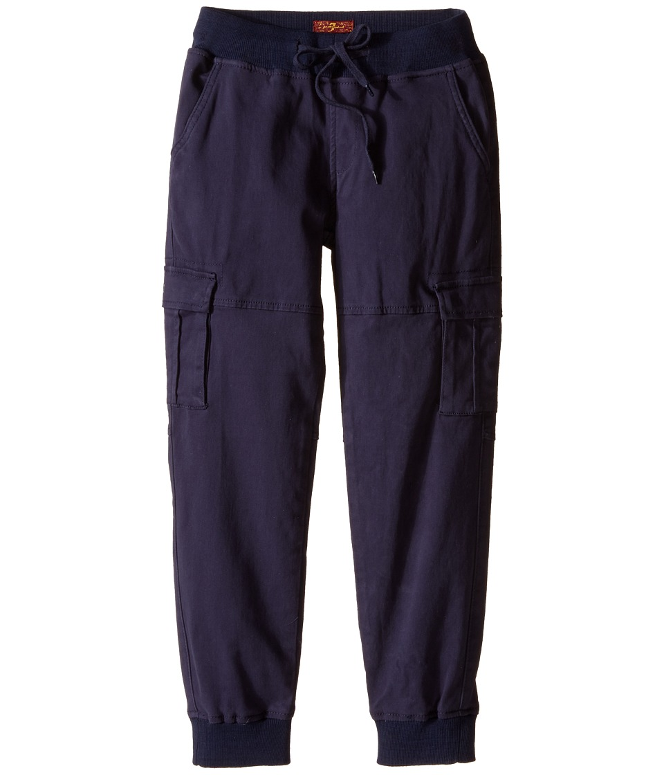 7 For All Mankind Kids Six Pocket Cargo Twill Jogger Big Kids Navy Boys Casual Pants