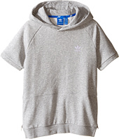 adidas Originals Kids - Sport Luxe Short Sleeve Hoodie (Little Kids/Big Kids)