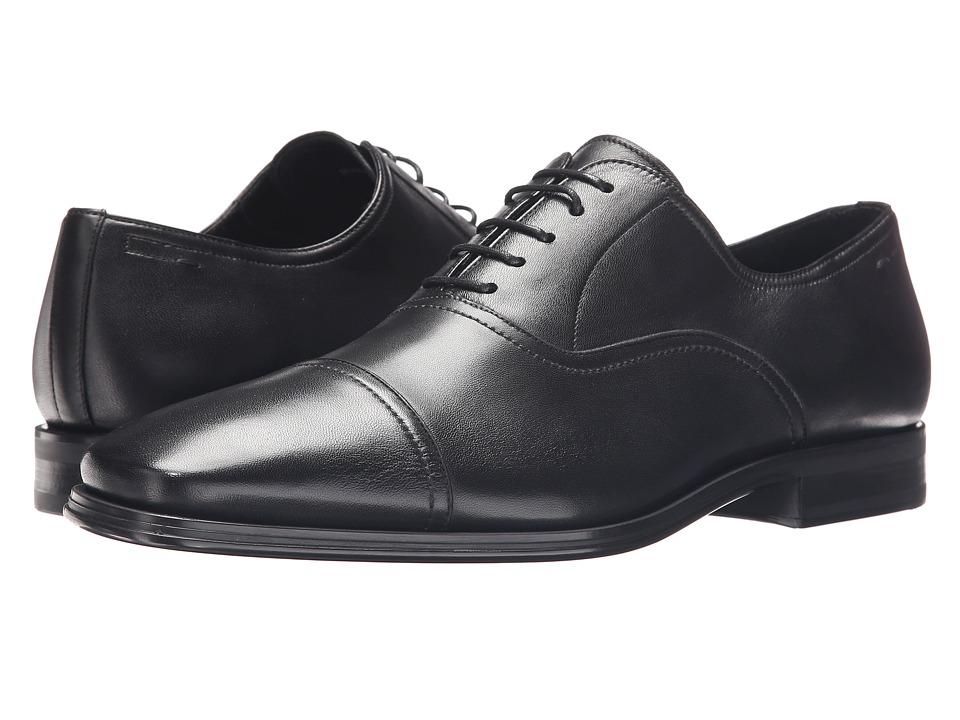 Magnanni - Mateo Lineo Merino (Black) Mens Lace Up Cap Toe Shoes