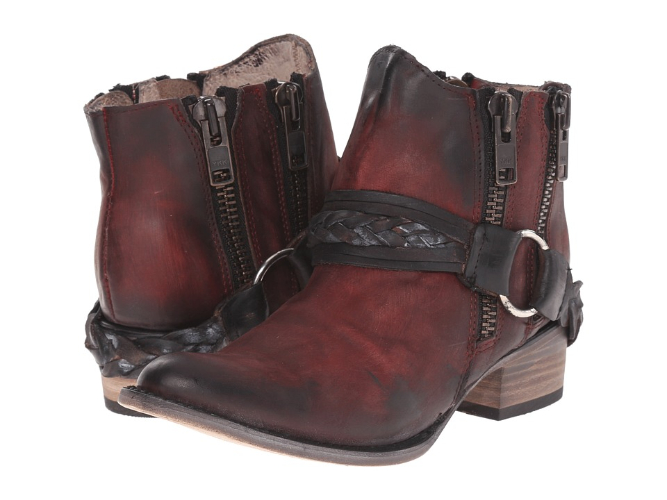 Freebird Clash Wine Womens Zip Boots