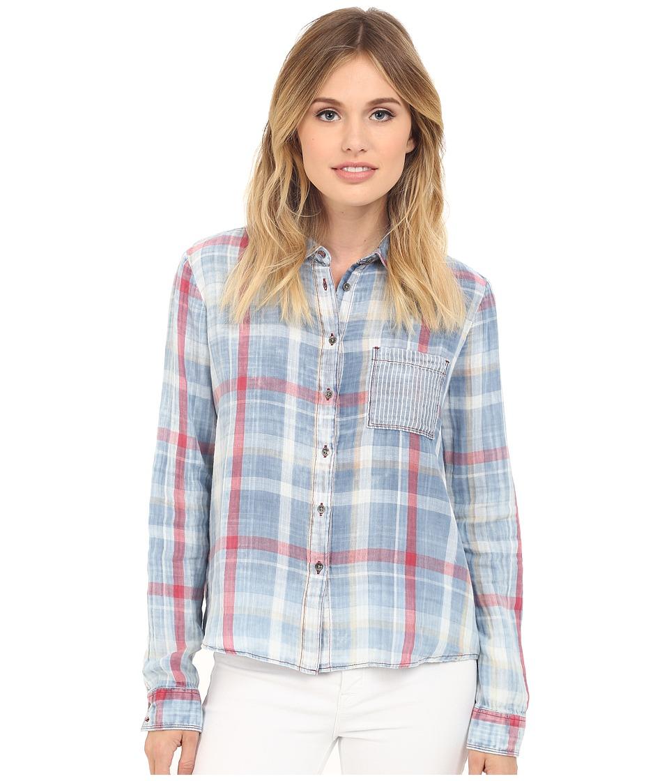 Mavi Jeans Checked Shirt Indigo Check Womens Clothing