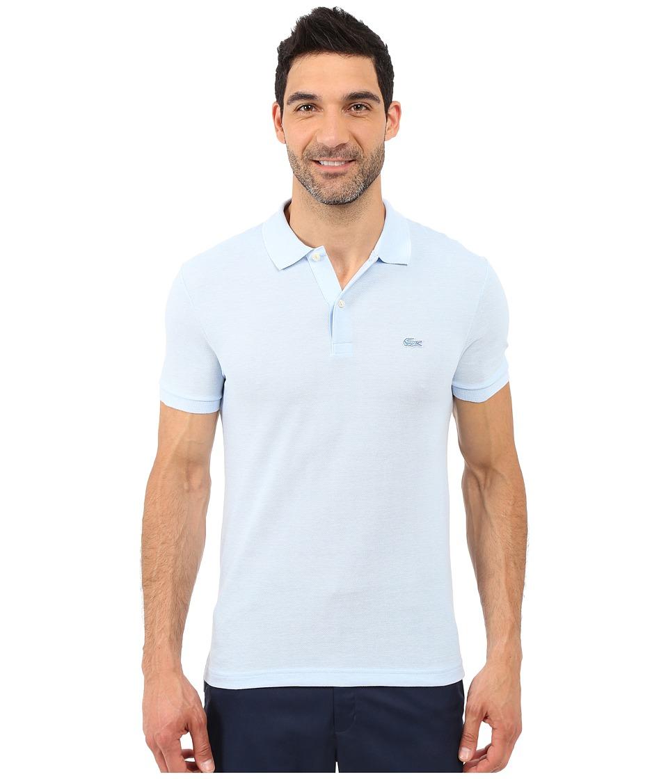 Lacoste Caviar Piqu Polo Shirt Nattier Blue 07E/Flour Mens Short Sleeve Pullover