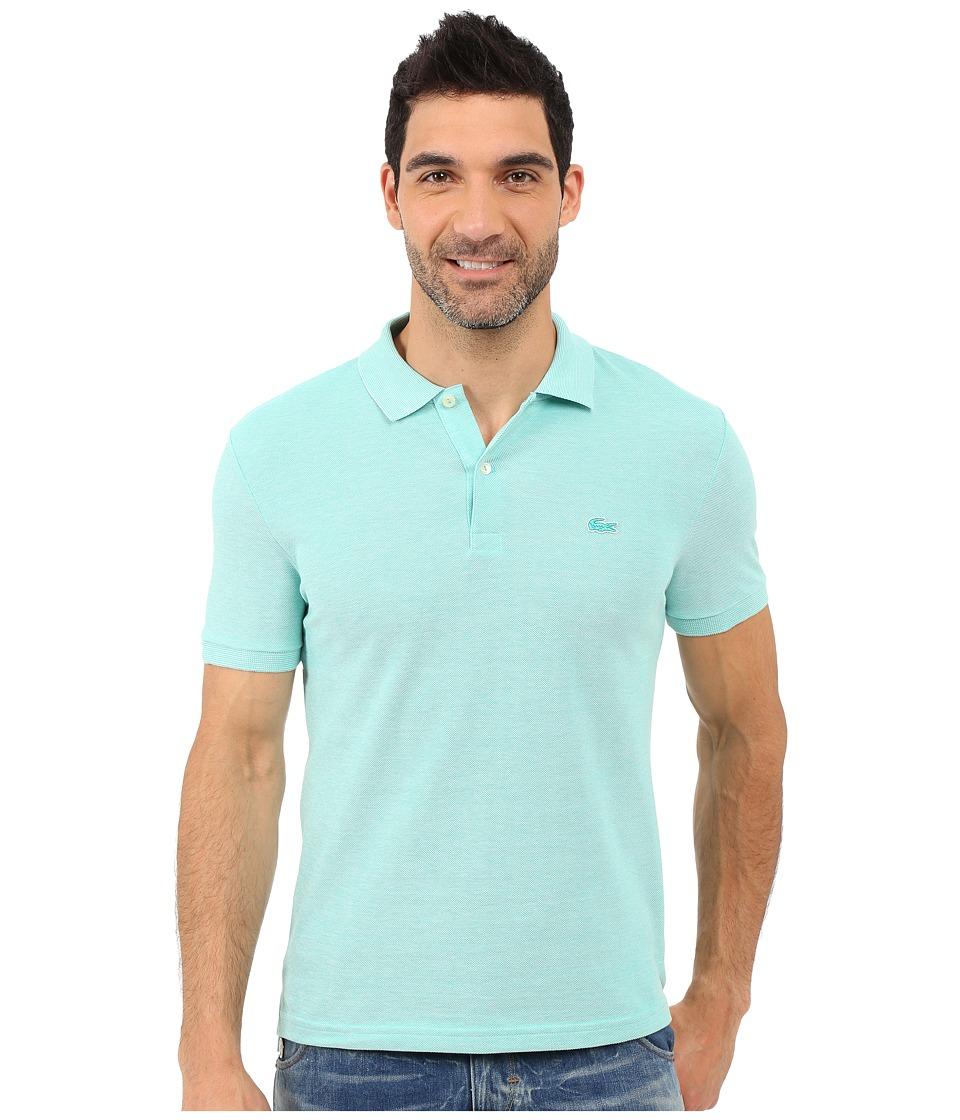 Lacoste Caviar Piqu Polo Shirt Papeete/Flour Mens Short Sleeve Pullover