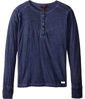 7 For All Mankind Kids - Long Sleeve Mineral Wash Slub Jersey Henley (Big Kids)