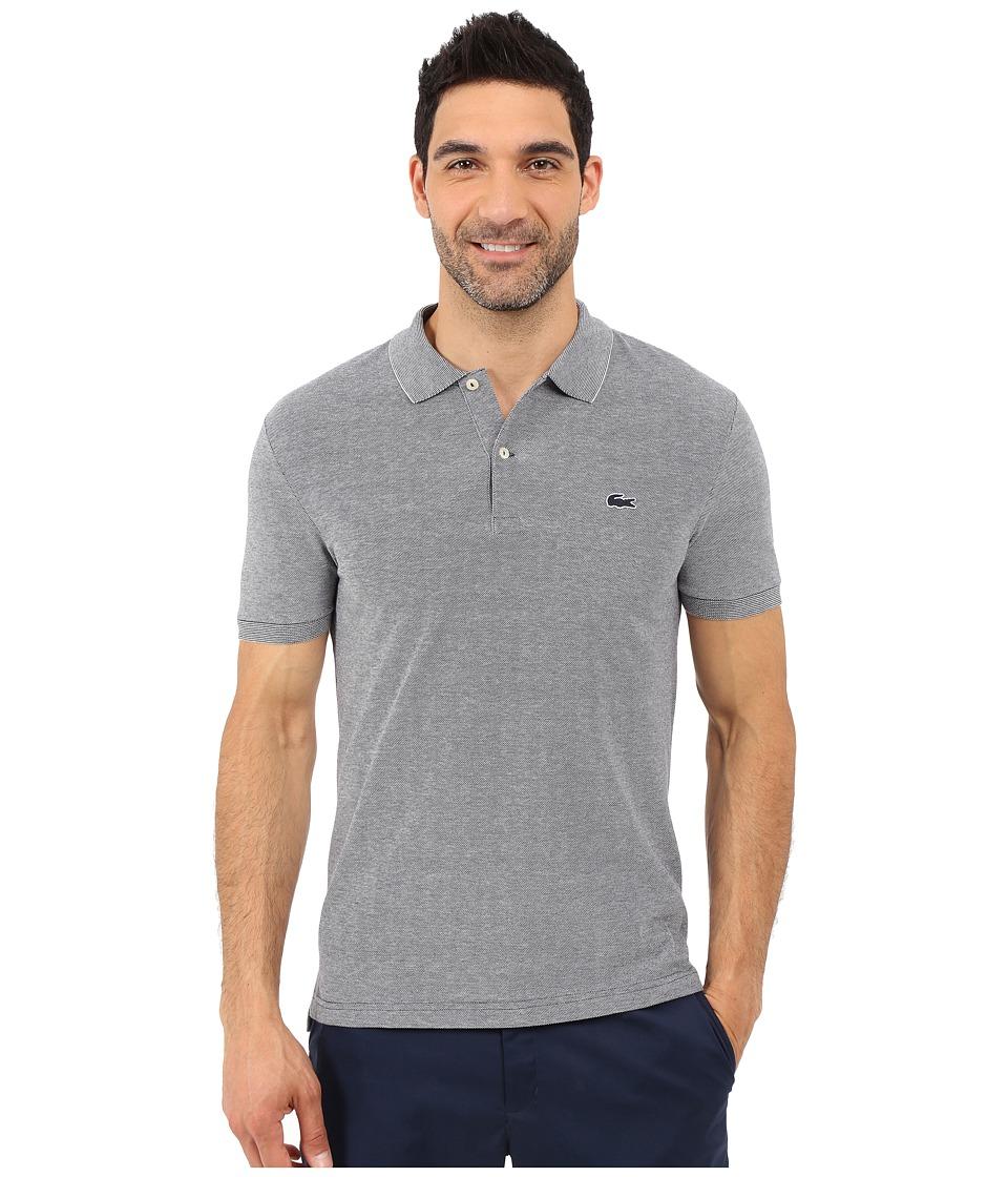 Lacoste Caviar Piqu Polo Shirt Navy Blue/Flour Mens Short Sleeve Pullover
