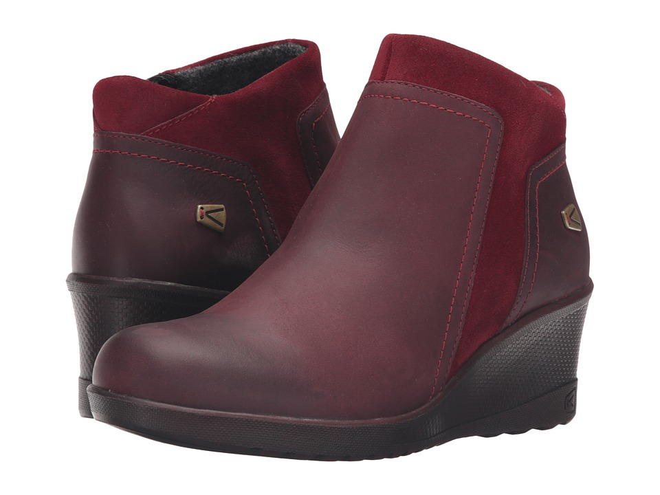 Keen - Keen Wedge Zip (Red Dahlia/Rather Do Black) Women