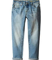 7 For All Mankind Kids - Josefina Five-Pocket Skinny Boyfriend Jeans in 3 Light Sky (Big Kids)