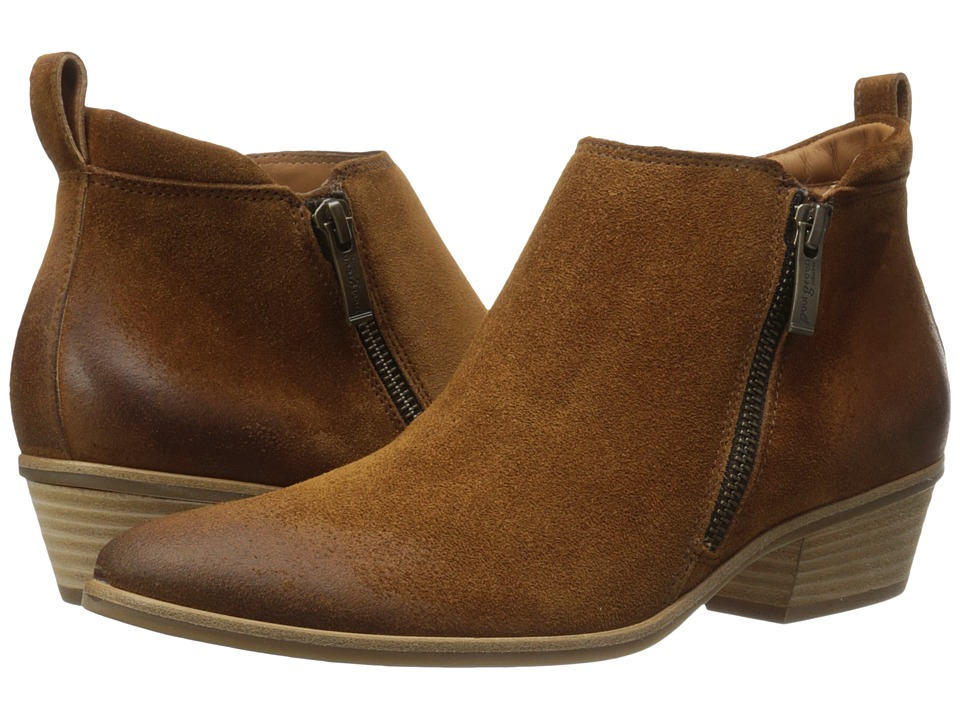 Paul Green - Jillian Bootie (Cognac Suede) Women