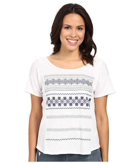 Mavi Jeans Scoop Back Embroidered Top