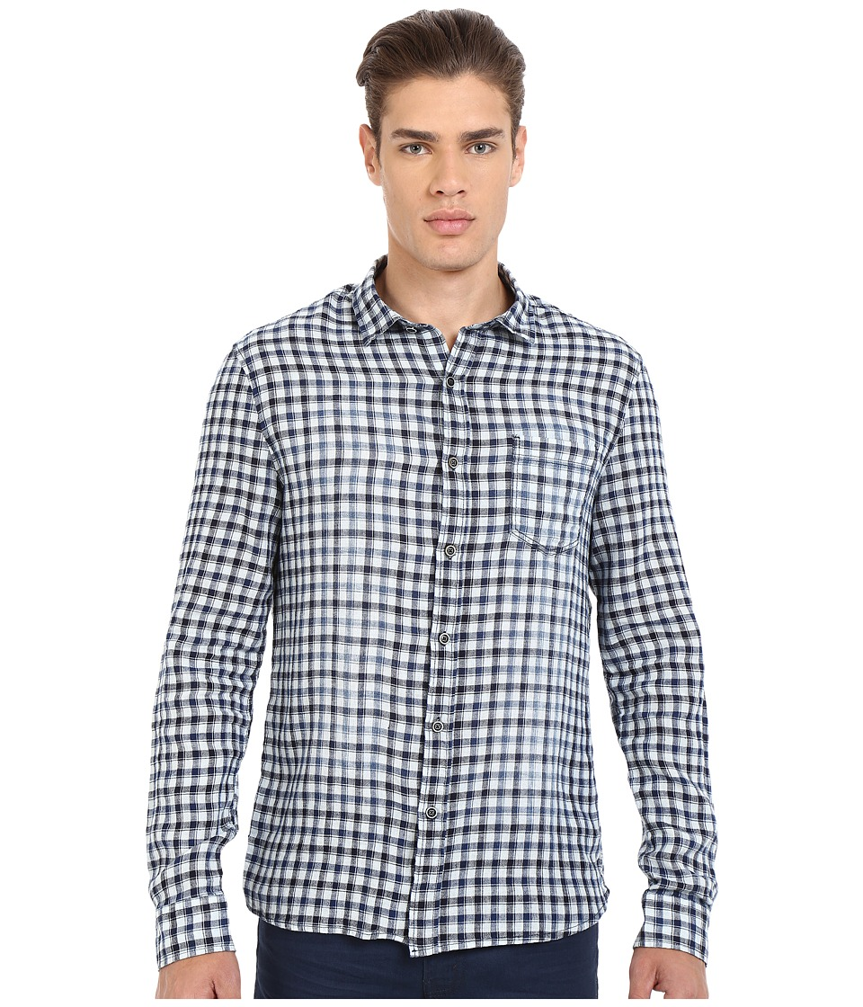 Mavi Jeans Checked Button Down Shirt Antique White Checked Mens Clothing