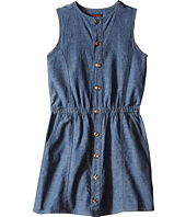 7 For All Mankind Kids - Two-Pocket Sleeveless Chambray Button Front Dress (Big Kids)