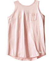 7 For All Mankind Kids - Metallic Slub Jersey Henley Crisscross Back Tank Top (Big Kids)