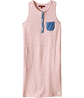7 For All Mankind Kids - Slub Jersey Henley Tank Dress with Chambray (Big Kids)