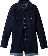 7 For All Mankind Kids - Six-Pocket Stretch Denim Romper in Indigo (Little Kids)