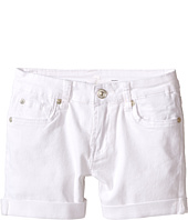 7 For All Mankind Kids - Denim Five-Pocket Cuff Shorts in Clean White (Little Kids)