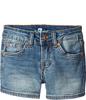7 For All Mankind Kids - Five-Pocket Denim Short Shorts in Sloan Heritage Medium (Little Kids)