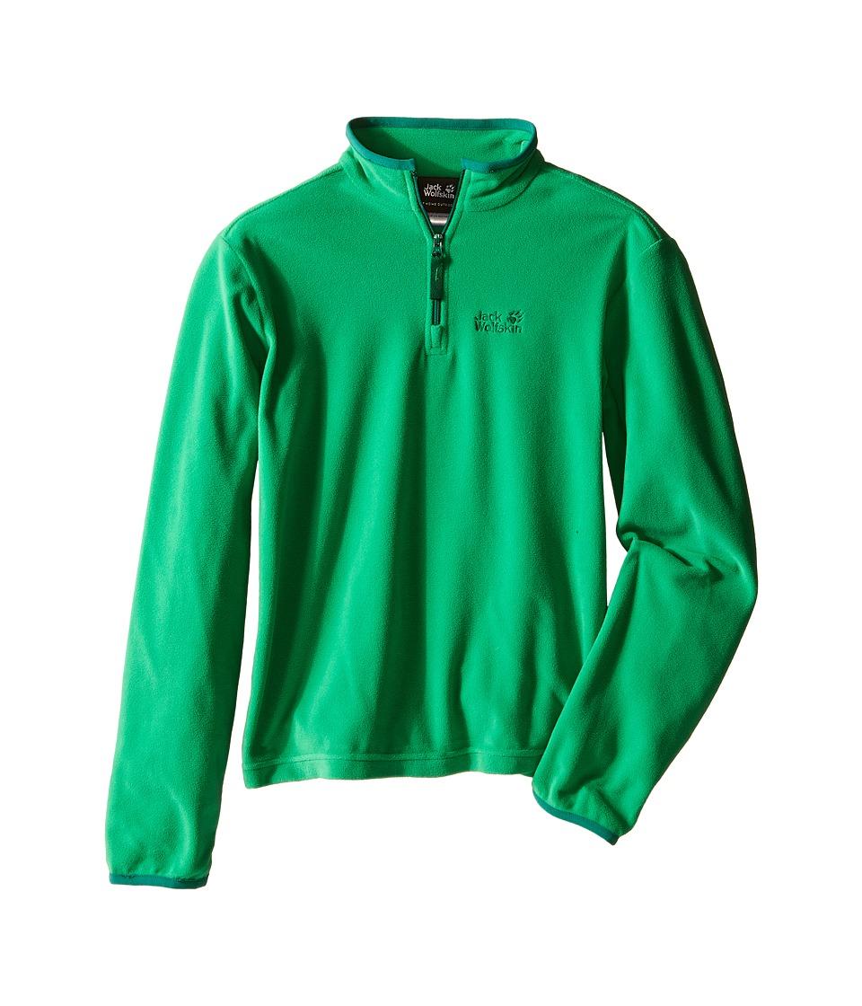 Jack Wolfskin Kids Gecko Nanuk 1/2 Zip Little Kid/Big Kid Seagrass Boys Clothing