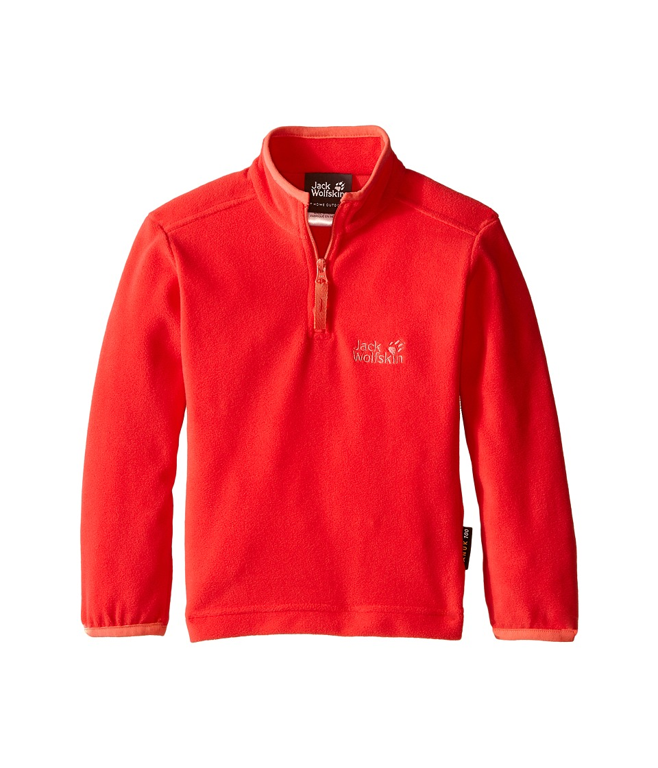 Jack Wolfskin Kids Gecko Nanuk 1/2 Zip Infant/Toddler Hibiscus Red Girls Clothing