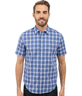 Lacoste - Short Sleeve Textured Check Regular Fit Woven Shirt