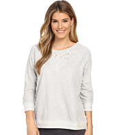 Lucky Brand - Cut Out Embroidered French Terry Crew