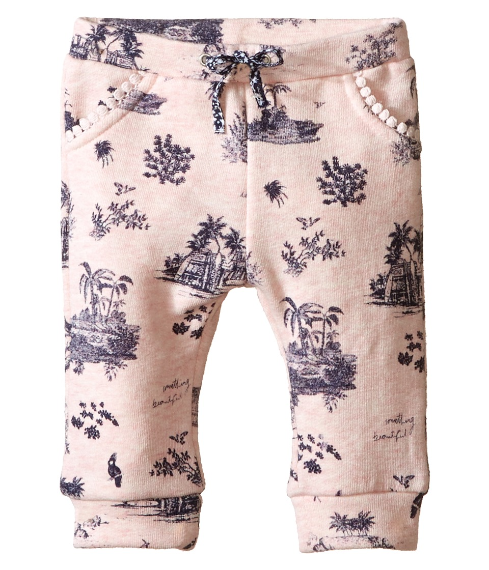 IKKS Hawaiian Toile Print Jersey Pants Infant/Toddler Printed Light Pink Girls Casual Pants