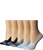 Steve Madden - 5-Pack Athletic Stripe Footie with Ribbed Arch Support