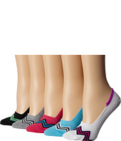 Steve Madden - 5-Pack Athletic Chevron Footie with Ribbed Arch Support