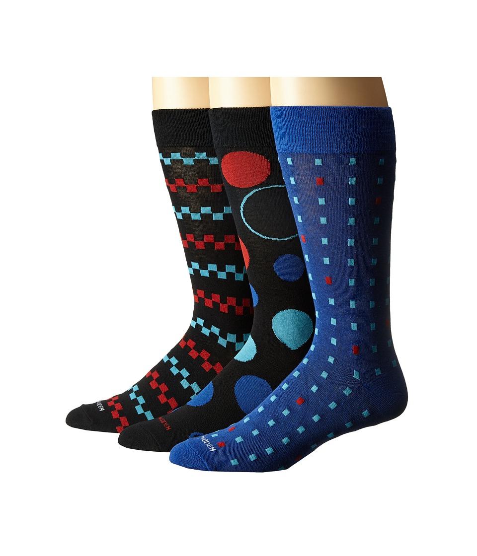 Steve Madden 3 Pack Fashion Crew Socks Black Multi Mens Crew Cut Socks Shoes