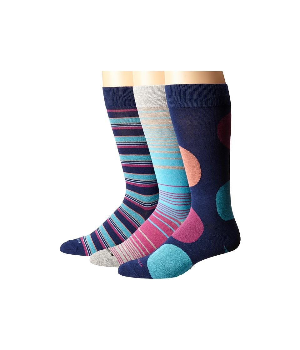 Steve Madden 3 Pack Fashion Crew Socks Navy/Heather Grey Mens Crew Cut Socks Shoes