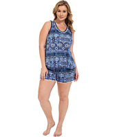 Lucky Brand - Plus Size Knit Shorty Set