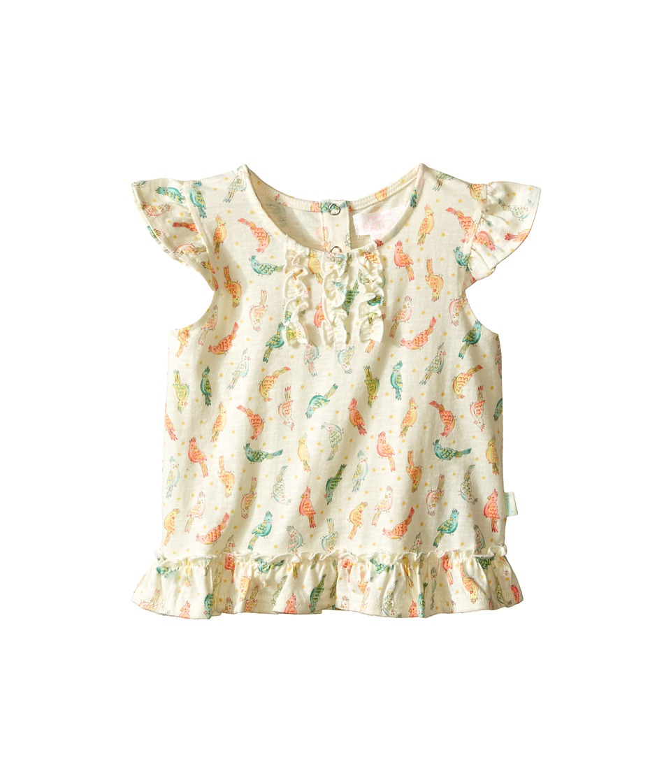 Pumpkin Patch Kids Birdie Print Frilly Top Infant After Glow Girls Blouse