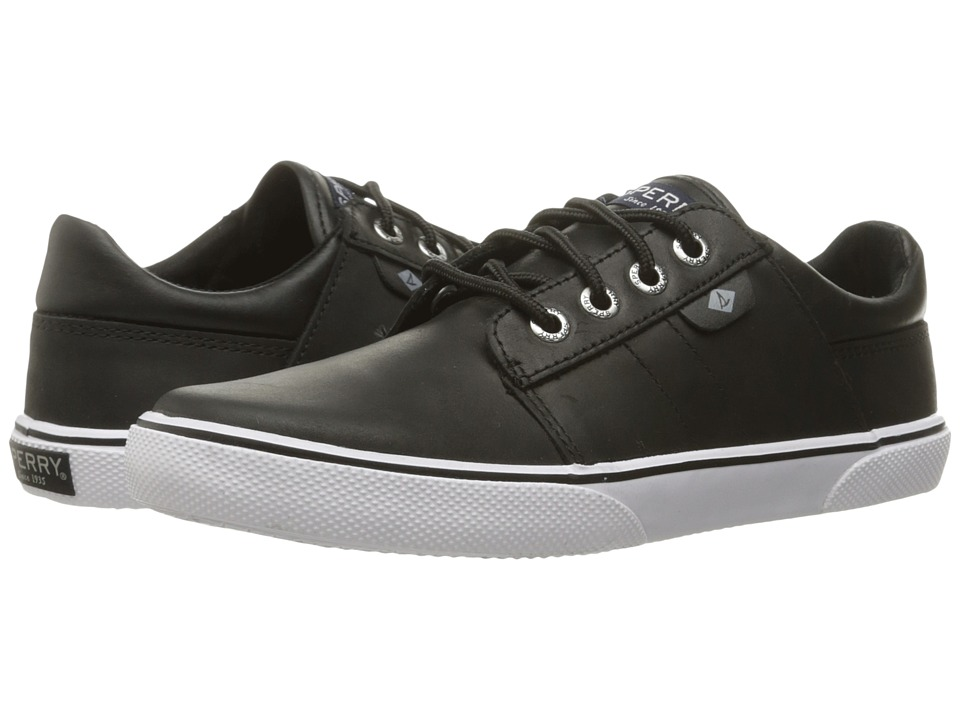 Sperry Kids Ollie (Little Kid/Big Kid) (Black Leather) Boy's Shoes